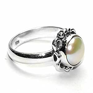 buy manirathnum pearl gemstone ring 925 sterling