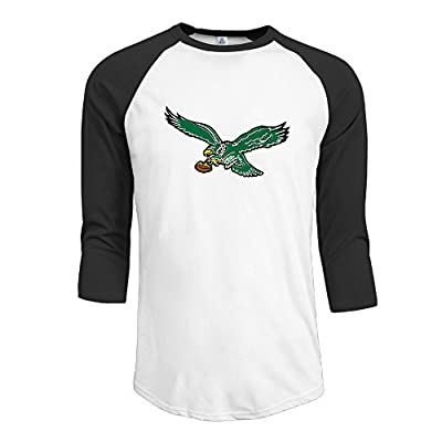 Philadelphia Eagles Logo T Shirts Fashion 3/4 Sleeve T Shirt Man's