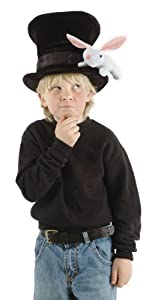 Elope Kid's Magician Hat With Rabbit, Black/White, One Size
