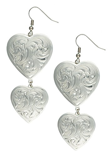 Montana Silversmiths Classic Heart Silver-Tone Concho Earrings - Silver Plate