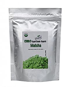 CCnature Super-grade organic matcha green tea powder-Superior Antioxidant Content, Increase energy, Burning fat, Greatly improve the body health-Pure matcha powder (4oz)