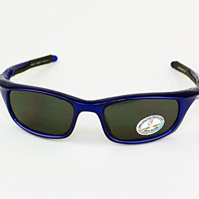 Real Kids Shades Royal Sport Polycarbonate White Blue Mirror Lens 7+ Sunglasses