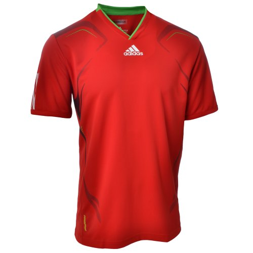 Adidas Barricade Mens Tennis T Shirt - Red - O04997