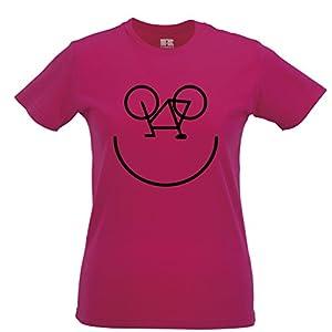 Bike Smiley Tshirt Womens Xsmall - XXLarge