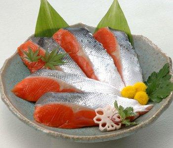 厚切り 高級紅鮭 天然魚漬 紅さけうしお造り詰合せ・5切入