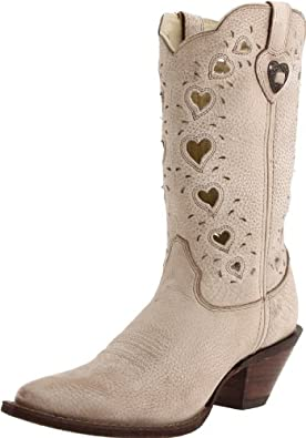 Durango Women's Crush Heart Western Boot,Beige,6 B US
