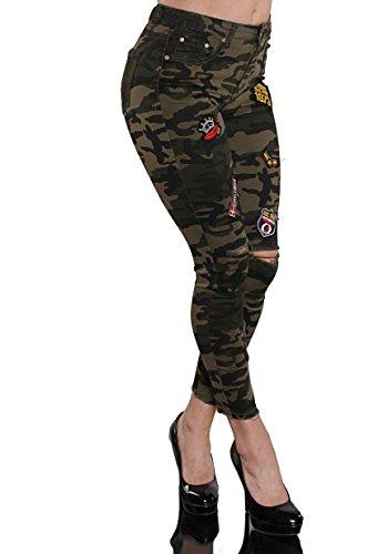 miss anna -  Pantaloni  - Donna Verde Militare