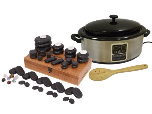 60 Piece Hot Stone Set with 6 Quart Digital Stone Heater