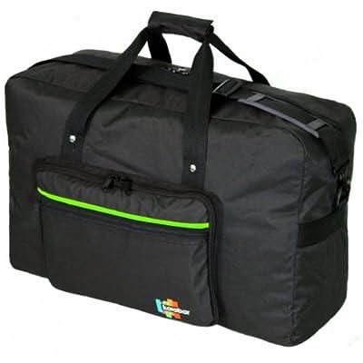Karabar Maximum Allowance Cabin Bag 55 x 40 x 20 cm, 44 Litres, 0.7 kg, 3 Years Warranty (Black/Lime)