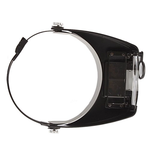 Us Headband Headset Led Magnifier Magnifying Glass 10 X