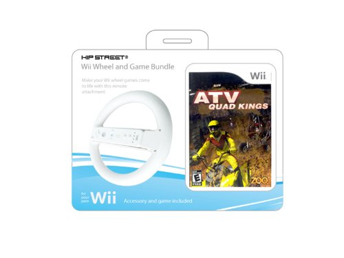 Wii Wheel and Game Pack 1 (White)