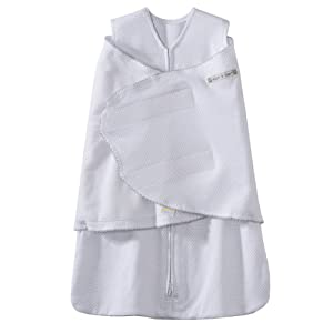 HALO 100% Cotton SleepSack Swaddle, Gray, Newborn