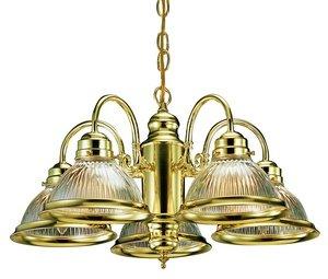 Design House 500546 Millbridge 5-Light Chandelier, 14-Inch By 22-Inch, Polished Brass front-977870