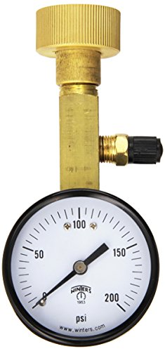 Winters AOM-204TM Air Over Water Test Gauge, 1/4