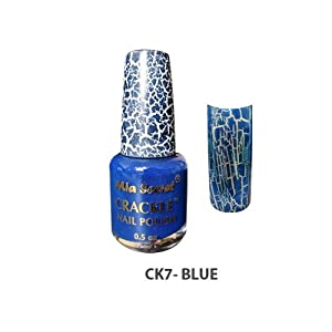 Mia Secret Crackle Nail Polish Blue 0 5oz