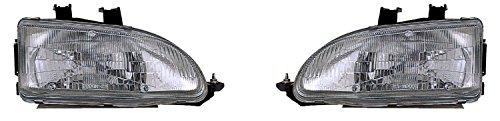 HONDA CIVIC 3/4D PAIR HEADLIGHT 92-95 NEW (Honda Civic 92 95 Headlights compare prices)