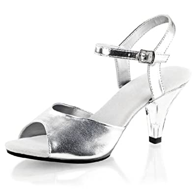 s silver prom shoes with 3 inch lucite
