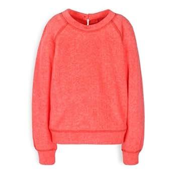 TroiZenfantS Soizic - Sweat-shirt - Uni - Fille - Orange (Sweat Orange Fluo) - FR: 3 ans (Taille fabricant: 3 ans)