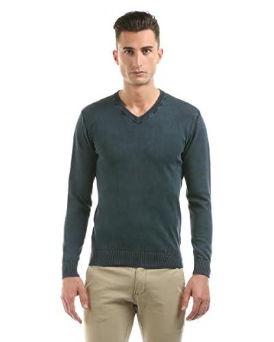 Hot Buttered Jersey V Neck Knitwear Azul Oscuro
