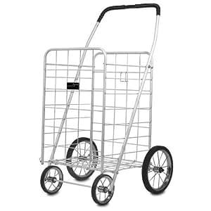 Cart - Easy Wheel Jumbo Shopping & Laundry Cart - White