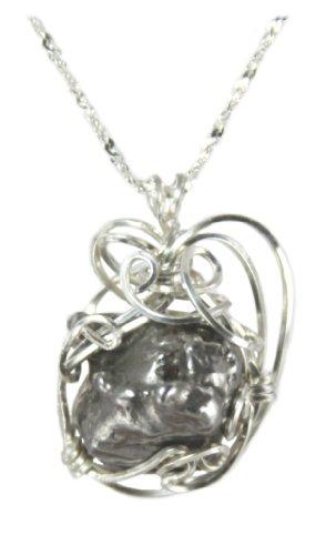 Sterling Silver Meteorite Pendant Jewelry