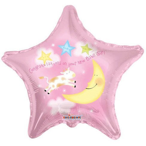 "18"" Baby Girl Cow & Moon Star (1 per package)"