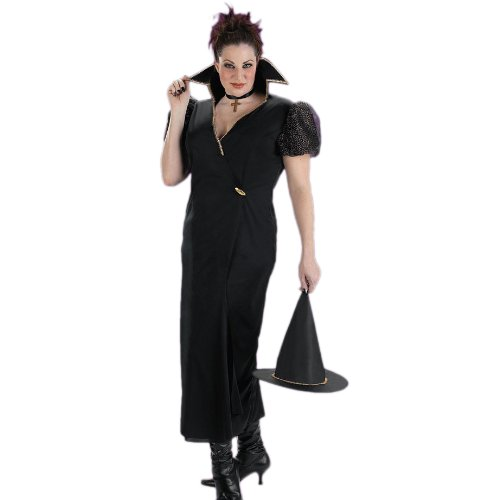 Plus Size Theatre Costumes Transylvania Classic Witch Costume Black Dress