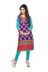 Nakoda Womens Cotton Kurti (906s_Free Size_Multi-Coloured)