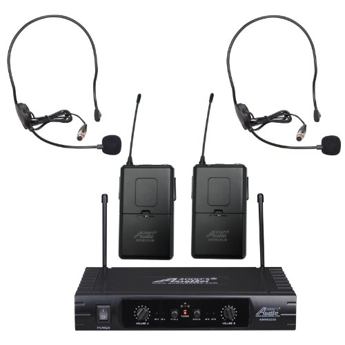 Audio2000'S Awm6525Uh Uhf 32 Selectable Frequency Wireless Microphone With Two Headsets