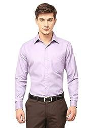 Copperline Plain Purple Slimfit Fullsleeves Cotton Formal Shirts