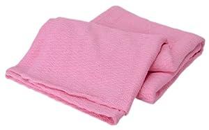 Elite Home Collection Sea Breeze All-Natural 100-Percent Cotton Full/Queen Chevron Woven Blanket, Blush