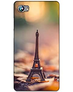 Hugo Micromax Canvas Fire 4 Back Cover Hard Case Printed Designer Multicolour