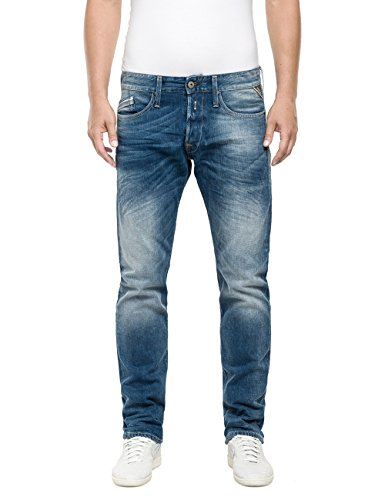 Replay Herren Straight Leg Jeanshose Waitom, Gr. W34/L32 (Herstellergröße: 34), Blau (Blue Denim 9) thumbnail
