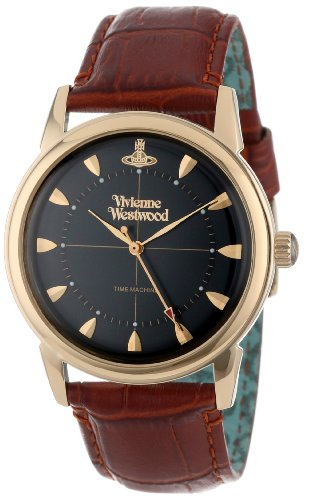 Vivienne Westwood Grosvenor VV064BKBR - Orologio da uomo al quarzo con display analogico e cinturino in pelle, colore: Nero/Marrone