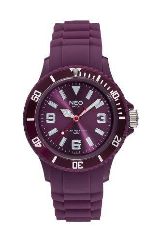 NEO watch 'NICE-1' ruby red unisex wristwatch with silicone strap - N1-009