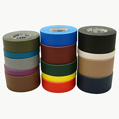 Pro Tapes Pro-Gaff Gaffers Tape: 1 in. x 55 yds. (White) by Shurtape