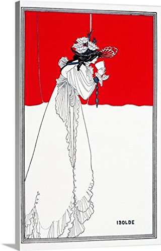 Aubrey (1872-1898) Beardsley Gallery-Wrapped Canvas entitled Isolde, 1899