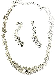Women's Crystal Bridal Jewelry Sets Hotsale Necklace and Earrings