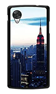 """Humor Gang Empire State Building Printed Designer Mobile Back Cover For """"Lg Google Nexus 5"""" (3D, Glossy, Premium Quality Snap On Case)"""