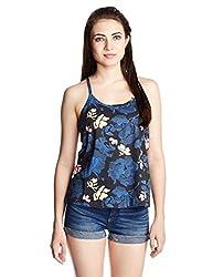 Roxy Women's Body Blouse Top (ERJKT03057-KRY6_Blue _Small)