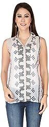 Soie Women's Empire Shirt (6110(I)PRINT_X-Large)