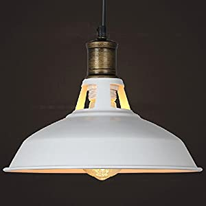 Buyee Vintage Industrial Ceiling Light Pendant Light Lamp Shade White by Shenzhen Buyee Trading Co.,Ltd