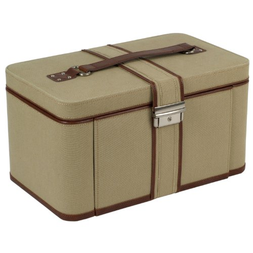 Wolf Designs 314422 British Safari Natural Brown Extra Large Jewelry-Boxes