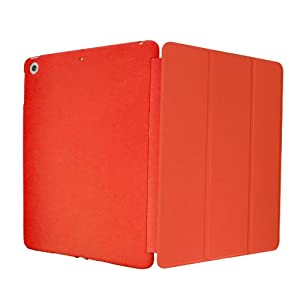 KHOMO iPad Mini / Mini 2 Retina / Mini 3 Case - DUAL Red Super Slim Cover with Rubberized back and Smart Feature (Built-in magnet for sleep / wake feature) For Apple iPad Mini Tablet by iPad Mini Retina Case