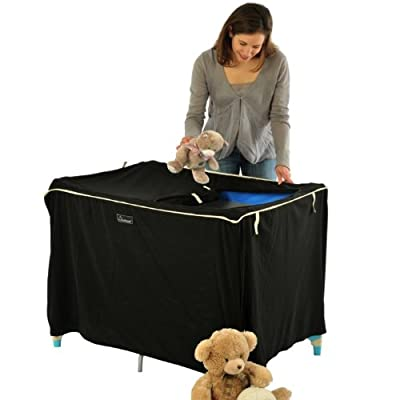 SnoozeShade Cot - blackout blind for standard travel cots (and continental cots that take 120cm x 60cm mattress) by SnoozeShade