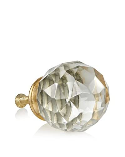 A. Sanoma Inc. Faceted Glass Drawer Pull, Clear