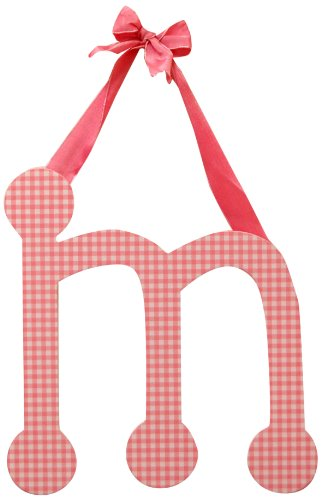 "My Baby Sam 9"" Pink Gingham Hanging Letter, M"