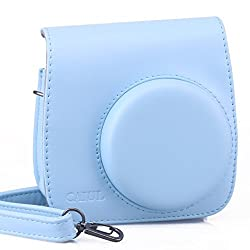NodArtisan Light Blue PU Leather fuji Fujifilm Instax Mini 8 Case bag