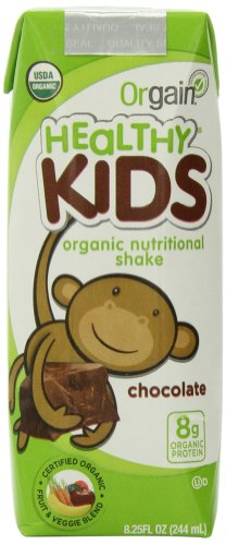 Orgain Healthy Kids Organic Nutritional Shake, Chocolate, 8.25 Ounce (Pack Of 12)