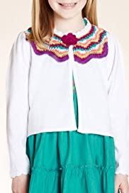 Autograph Pure Cotton Crochet Knit Cardigan [T77-5388E-Z]